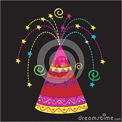 Colourful sparkler