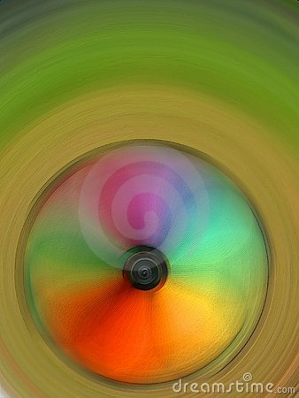 Colourful spinning wheel
