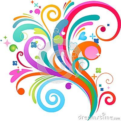 Free Colourful Splash Background Stock Images - 13803094