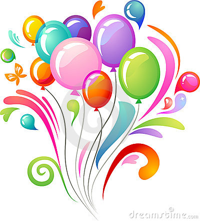 Free Colourful Splash With Party Balloons Royalty Free Stock Image - 13802216