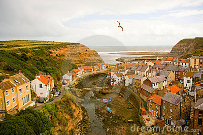 Colourful Staithes.