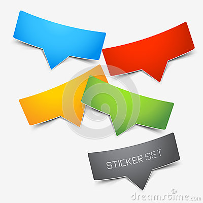 Free Colourful Sticker Set Royalty Free Stock Images - 27761639
