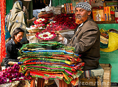 colourful street stall in India