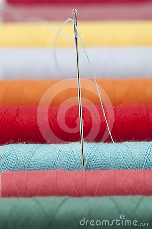 Colourful thread