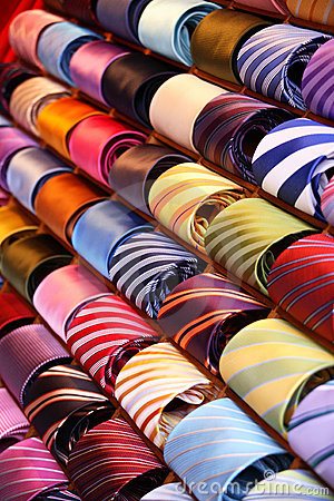 Free Colourful Ties Stock Photography - 2895912