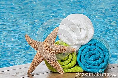 Colourful towels