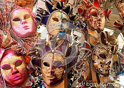 Colourful venetian masks