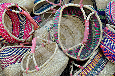 Colourful Woven Baskets