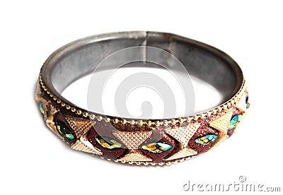 Colourfull ring macro isolated