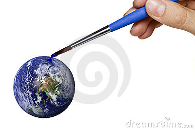 Colouring blue planet earth