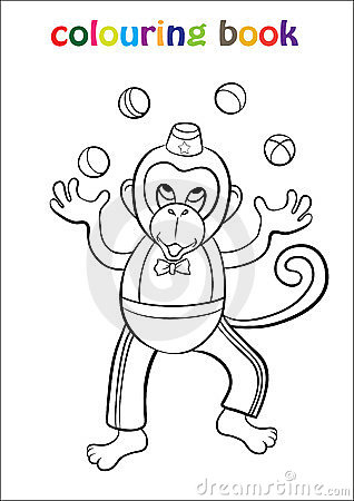 Colouring Book with Monkey Circus