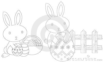 Colouring easter bunnies