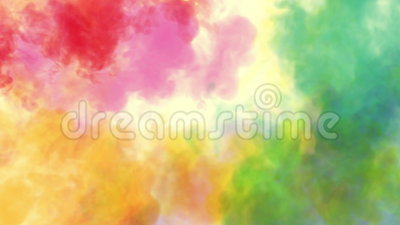 Colours for holi festival. Colorful spreading of holi colors, animated video