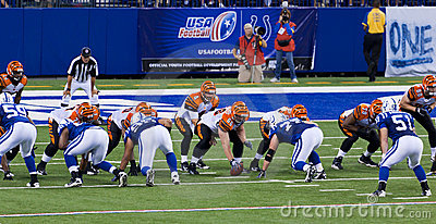 Colts-Bengals football game Editorial Image