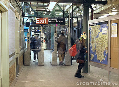 Columbus Circle Subway Station, New York City Editorial Image