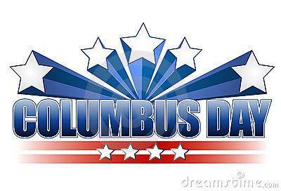Columbus day illustration design