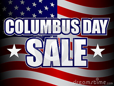 Columbus Day Sale Royalty Free Stock Image - Image: 16270916
