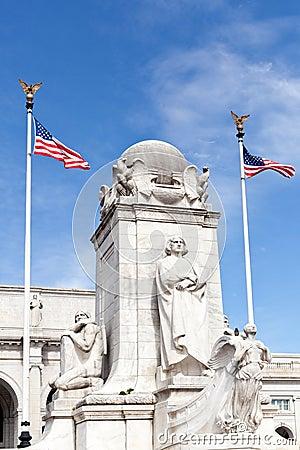 Columbus Fountain Union Station Washington dc
