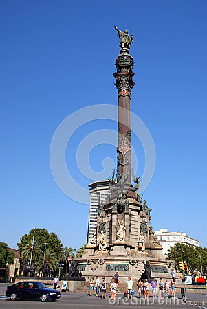 Columbus monument Editorial Stock Photo
