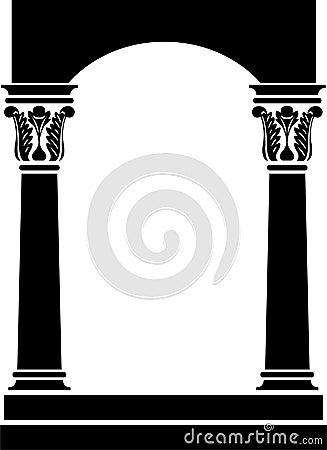 Column Arch Frame/ai