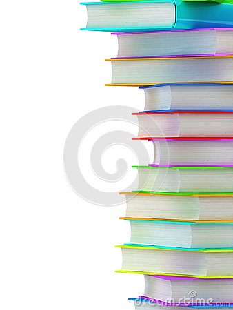 Column of books background.