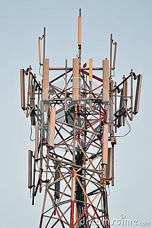 Column broadcast antenna Close up