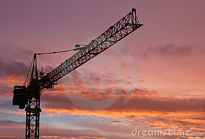 Column crane at dawn