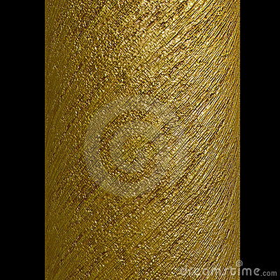 Free Column Gold Metallic Spiral Strips Texture Stock Image - 3768281