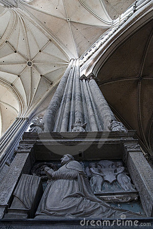 Column inside Amiens Cathedral