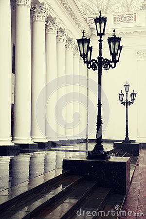 Column and lamp