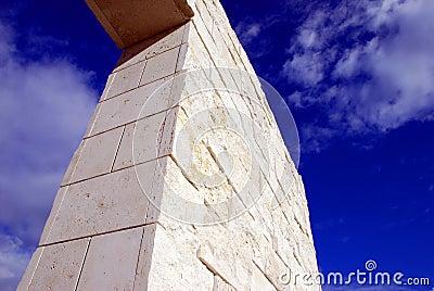 Column and sky