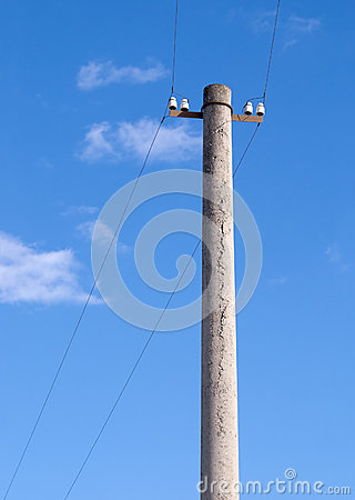 Column of small electricity transmission line