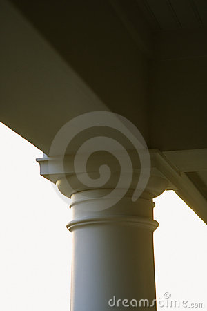 Column support of porch.