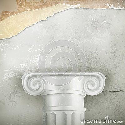 Column, vintage background
