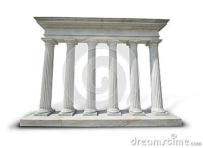Columnas blancas - camino de recortes
