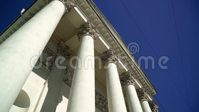 Columnas de la catedral de la trinidad almacen de video