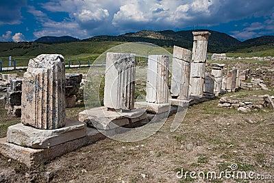 Columnas en Hierapolis