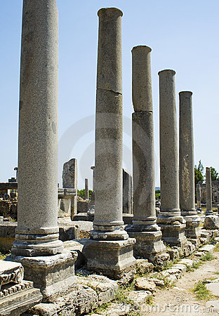 Columns of the Agora in Perga