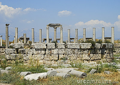 Columns of the Agora in Perga