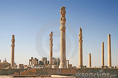 Columns of ancient city of Persepolis, Iran