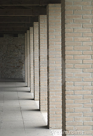 Columns of bricks