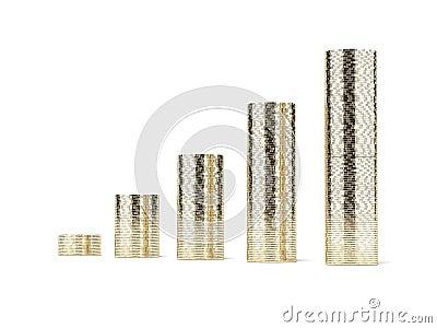 Columns of coins