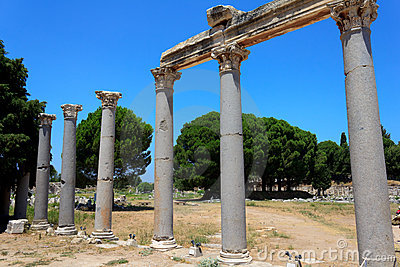 Columns at Ephesus, Turkey