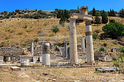 Columns at Ephesus, Turkey