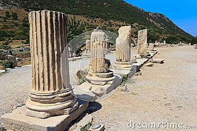 Columns in Ephesus, Turkey