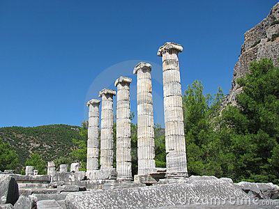 Columns of Greek temple