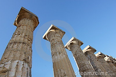 Columns Greek Temple