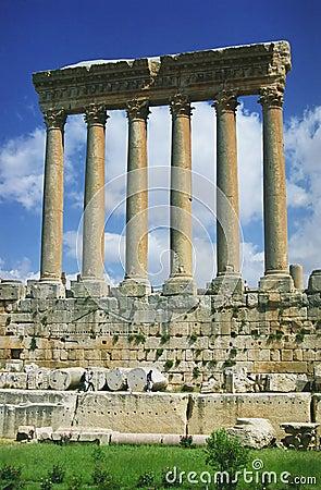 Free Columns In Baalbek Stock Photo - 2074920