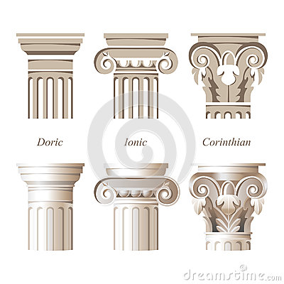 Free Columns In Different Styles Royalty Free Stock Image - 38561236