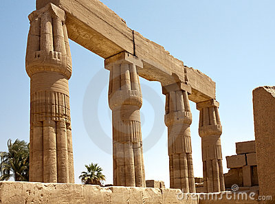 Columns of Karnak Temple, Egypt, Luxor